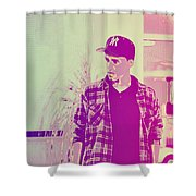 Thoughtful Youth Series 28 Shower Curtain