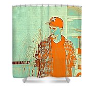 Thoughtful Youth Series 29 Shower Curtain