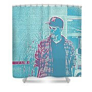Thoughtful Youth Series 31 Shower Curtain