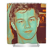Thoughtful Youth Series 32 Shower Curtain