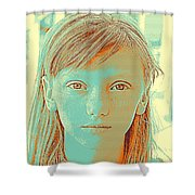 Thoughtful Youth Series 33 Shower Curtain