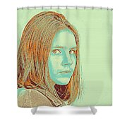 Thoughtful Youth Series 34 Shower Curtain