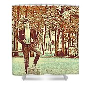 Thoughtful Youth Series 37 Shower Curtain