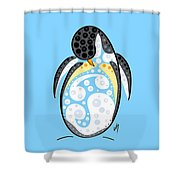 Thoughts And Colors Series Penguin Shower Curtain