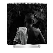 Thoughts In Time Shower Curtain by Bob Orsillo