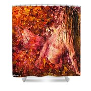 Thoughts Of Pleasure - Palette Knife Oil Painting On Canvas By Leonid Afremov Shower Curtain