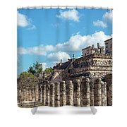 Thousand Columns And Temple Of The Warriors Shower Curtain