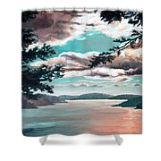 Thousand Island Sunset Shower Curtain