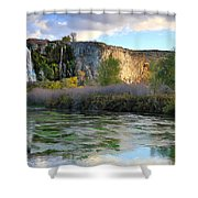 Thousand Springs Idaho Shower Curtain
