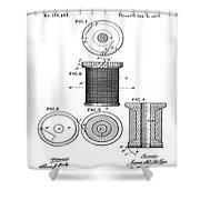Thread Spool Patent 1877  Shower Curtain