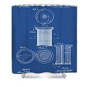 Thread Spool Patent 1877 Blueprint Shower Curtain