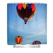 Three Balloons Shower Curtain