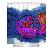 Three Balls Shower Curtain