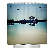 Three Boats Shower Curtain