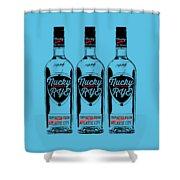 Three Bottles Of Nucky Rye Tee Shower Curtain