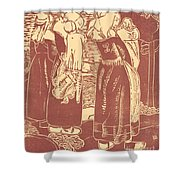Three Breton Women With Infants Shower Curtain