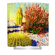 Three Cacti Shower Curtain
