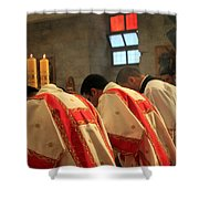 Three Candles Shower Curtain
