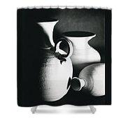 Three Clay Jars 1 Shower Curtain