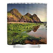 Three Cliffs Bay 3 Shower Curtain