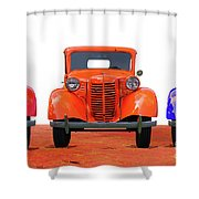 Three Colored Cars Shower Curtain