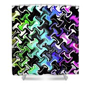 Three-d Dimensional Abstract Design Shower Curtain
