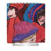 Three Directions Shower Curtain