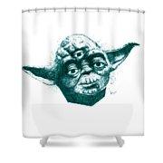 Three Eyed Yoda Shower Curtain