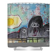 Three Eyes Shower Curtain