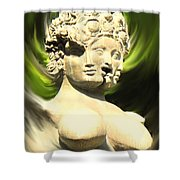 Three Faced Statue Shower Curtain