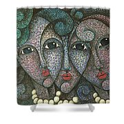 Three Faces  2015 Shower Curtain