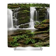Three Falls Of Tremont Shower Curtain