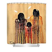 Three Feathers Shower Curtain