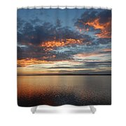 Three Fiery Clouds Shower Curtain