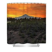 Mount Jefferson At Sunset Shower Curtain