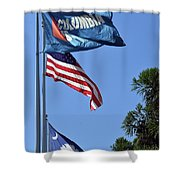 Three Flags Shower Curtain