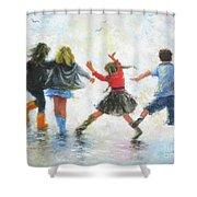 Three Girls And Boy Shower Curtain