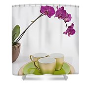 Three Gold Cups Shower Curtain