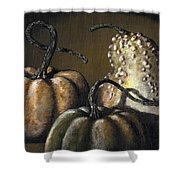Three Gourds Shower Curtain
