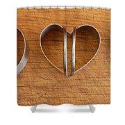 Three Heart Cutters Shower Curtain