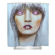 Three Kisses Shower Curtain