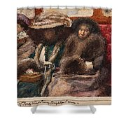 Three Ladies On Carriage Shower Curtain