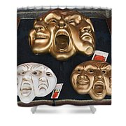 Three Masks For Sale, Venice Shower Curtain