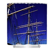 Three Mast Sailing Rig Shower Curtain