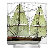 Three Masts Commercial 1760 Shower Curtain