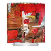 Three Moons Shower Curtain