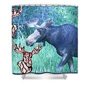 Three Moose Shower Curtain