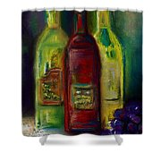 Three More Bottles Of Wine Shower Curtain