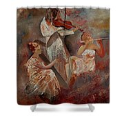 Three Musicians  Shower Curtain