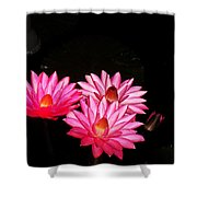 Three Night Lilies  Shower Curtain